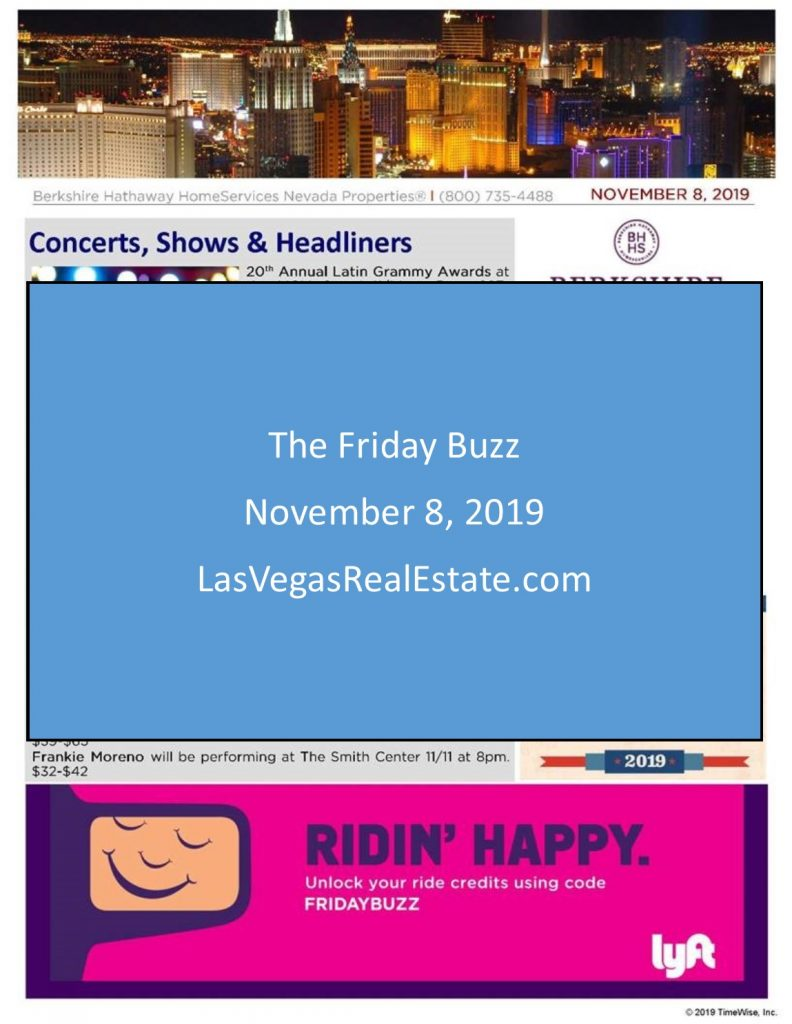 The Friday Buzz for November 8 2019 - LasVegasRealEstate.com