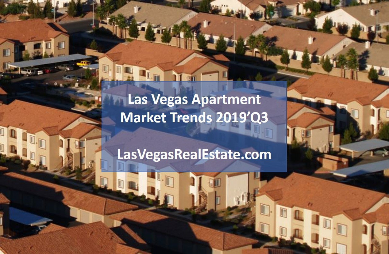 "an aerial view of a housing, in the middle the words ""las vegas apartment market trends 2019' Q3"" is written - lasvegasrealestate.com"