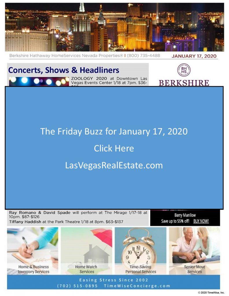 The Friday Buzz - January 17, 2020 - LasVegasRealEstate.com