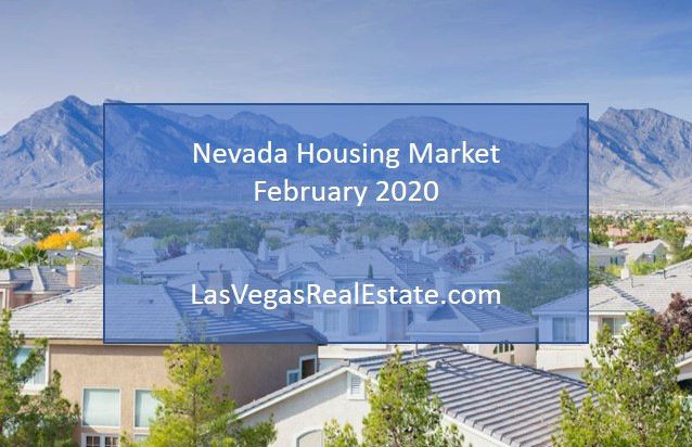 """an aerial view of a housing in nevada, the words """"nevada housing market februrary 2020"""" is written in the middle"""