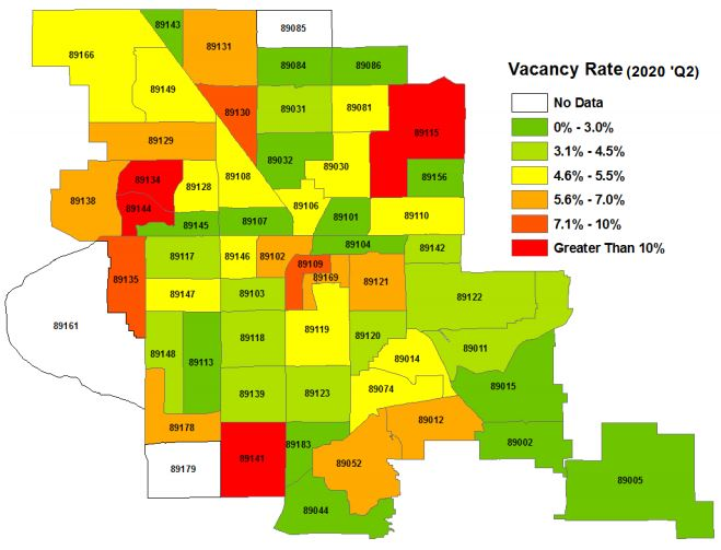 LasVegasRealEstate.com Rental Vacancy Rate for Q2 2020