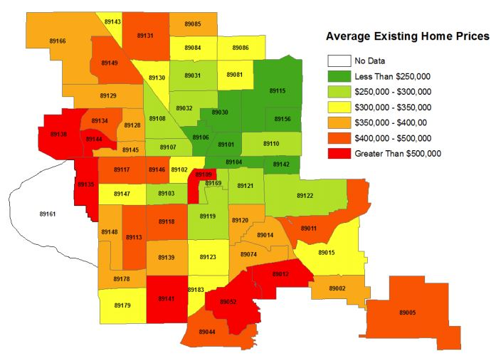 Average Existing Home Prices for Las Vegas Metropolitan Area - August 2020 - LasVegasRealEstate.com